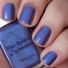 Painted Nubbs: Blue Eyed Girl Lacquer Spark in the Dark Collection Hypothermia LE