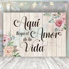 Aquí llega el amor de tu vida Ideas Para Fiestas, Funeral, Wedding Flowers, Baby Shower, Lettering, Party, Pink, Amor, Dress