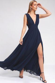 Heavenly Hues Navy Blue Maxi Dress 8