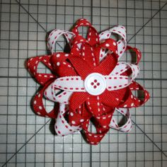 Stack layers and add embellishment how to make loopy bow