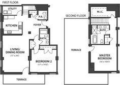 Alexander 11 What a perfect size for a first home Craftsman Floor Plans, Small House Floor Plans, Simple House Plans, Best House Plans, Dream Home Design, House Design, Little Houses, Small Houses, I Love House