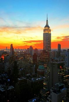 What uplifts my spirit? the New York City skyline at dusk. Go To New York, New York City, I Love Nyc, City Photography, Timeless Photography, Dream City, Beautiful Sunrise, Concrete Jungle, Best Cities