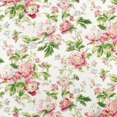 Pink and Green. Waverly Forever Yours Spring Fabric Papel Vintage, Vintage Paper, Impressões Vintage, Vintage Prints, Background Vintage, Paper Background, Flores Shabby Chic, Scrapbook Paper, Scrapbooking