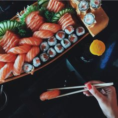 Imagem de food and sushi