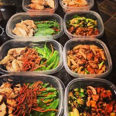 #mealprep in full effect it's the only way I stay on point this weeks menu includes chicken breast seasoned with chipotle, cayenne, paprika, and garlic, ground turkey breast with heirloom tomatoes and mushrooms, whole wheat penne pasta, tri-color quinoa, brussels sprouts, and shredded carrots #onlinecoach #gaugegirltraining #onemealatatime #summer #bikiniprep #bikini #abs #absaremadeinthekitchen #cleaneats #cleaneating #healthy #health #meals #food #follow #Padgram