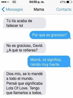 Smartphones y padres. Funny Spanish Memes, Funny Relatable Memes, Funny Texts, Funny Jokes, I Love To Laugh, Just Smile, Funny As Hell, Haha Funny, Feeling Stupid
