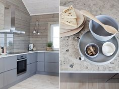 Horway - the dream house Cabin Kitchens, Cabin Interiors, Cottage Homes, House In The Woods, Log Homes, Decoration, Living Spaces, Modern Design, Home Decor
