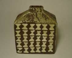 Vase Carstens Tönnieshof 60er 60s pottery C-805 West German Heinz Siery Brasilia