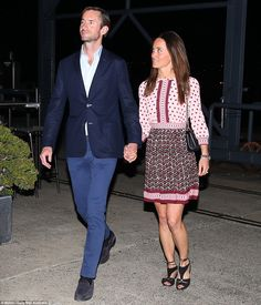 Look of love: Pippa gazed at her new husband as they left the restaurant on Sydney's beaut...