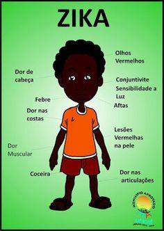 Ensinando com Carinho: Cartazes com os sintomas da dengue, zika e chikungunya Dengue Zika, Education, Memes, Poster, Teaching Activities, Health And Safety, Life Cycles, Classroom, Science