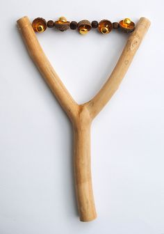 Love the idea of using elements of #nature to create a #musical #instrument. Handmade branch bell shaker