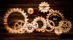 Awesome steampunk wedding gobo! #lighting
