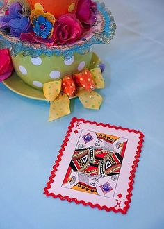 Decorated large playing cards