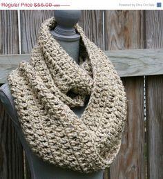 Chunky Crochet Cowl Infinity Scarf