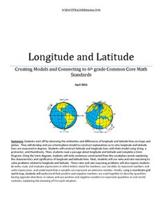 Students start off by observing the similarities and differences of longitude and latitude lines on maps and globes.  They will develop and use a hemisphere model to construct explanations as to why longitude and latitude lines are measured in degrees.