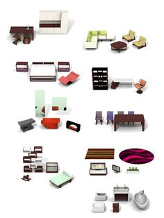 furniture set for the modern dollhouse $349