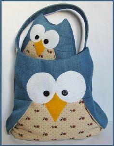 Barney Owl Bag ePattern - I love owls!