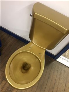 GOLD TOILET FROM US HERE AT LANDER INC!