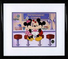 Mickey Mouse - Soda Shop Sweethearts - Walt Disney Art Classics - World-Wide-Art.com - #Disney #Mickey