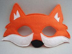 Fox Mask Orange Fox Woodland Animal Mask Fox by herflyinghorses