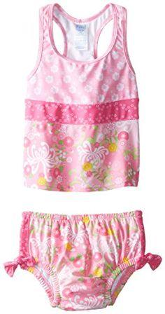 i play. Baby Girls' Mix N Match Ultimate Swim Diaper 2 Piece Tankini Set, Pink/Mum Garden, Small/6 Months i play. http://www.amazon.com/dp/B00SKUR7DA/ref=cm_sw_r_pi_dp_B9POwb164PWT7
