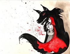 The Wolf and Little Red by Courtney Thomas. There are wolves in sheep clothing everywhere...