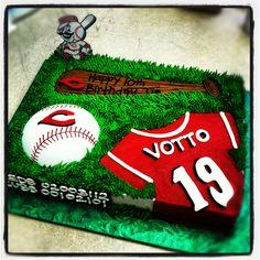 Tremendous 10 Best Cincinnati Reds Cake Images Cincinnati Reds Cake Red Personalised Birthday Cards Paralily Jamesorg
