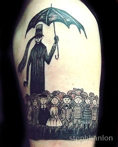 gorey tattoo, by steph hanlon in seattle