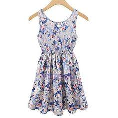 Fashion Women Floral Beach Boho Dress Casual Girls Summer Mini Sundress NI5L