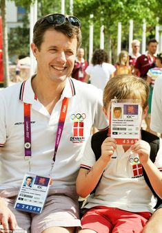 Family fun: In 2010, the couple attended the London Olympics with their two eldest childre...