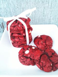 Valentine's Day Dessert: Red Velvet Cookies. These were extremely goopy.. SO hard to get onto the cookie sheets.. my son enjoyed them, but I think they tasted like cake mix. Imagine that!