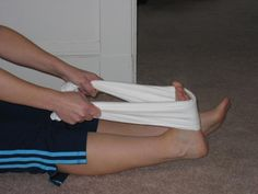 What Exercises Can Help Strengthen Your Feet and Ankles?: Towel Stretch