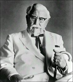 Colonel Harlan Sanders - September 9, 1890-1980) – Kentucky Fried Chicken founder. Born in Henryville, Indiana, died in Louisville, buried at Cave Hill Cemetery, in Louisville.