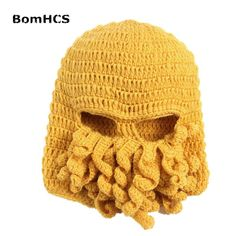 BomHCS Men's Thick Cable 100% Handmade Crochet Beanie Squid Octopus Crochet Hat Cap