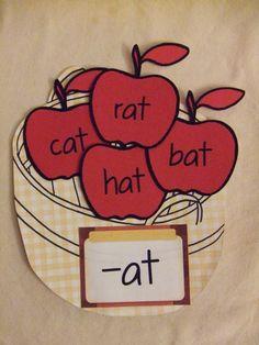 Thinky Linky Thursday:Apple Word Family Sort
