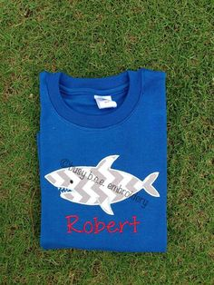 Personalized Shark Shirt by aukat20 on Etsy, $25.00