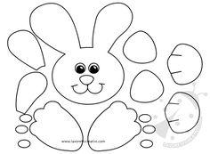 Idee per Pasqua Sacchetto porta ovetti con coniglio