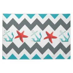 I like chevrons. Good colors. The starfish and anchor are tacky though