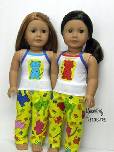 Pajamas 18 inch doll clothes AG doll clothes by Unendingtreasures