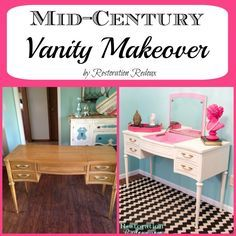 Mid-Century Vanity Makeover - Restoration Redoux