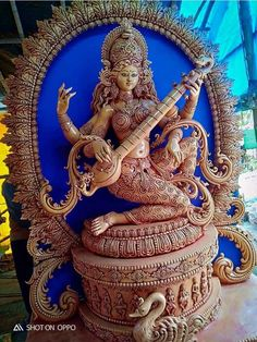 Saraswati Puja Pandal, Saraswati Murti, Durga Ji, Saraswati Goddess, Shiva Shakti, Durga Maa Pictures, Durga Images, Ganesh Images, Shiva Art