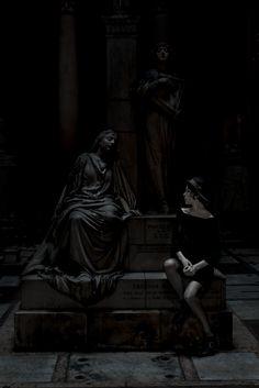 """Hades"" — Photographer: Oriofoto Fotografia Assistant Photographer: Alessia Cecconi Makeup: Elena Varlaro Model: Julie Sejournet"