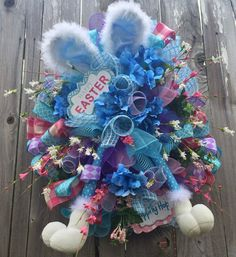 Easter Wreath Easter Swag Easter Decoration Spring by BaBamWreaths