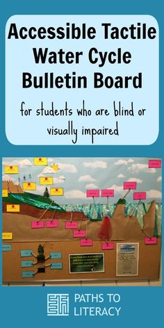 Create an accessible tactile water cycle bulletin board for students who are blind or visually impaired.