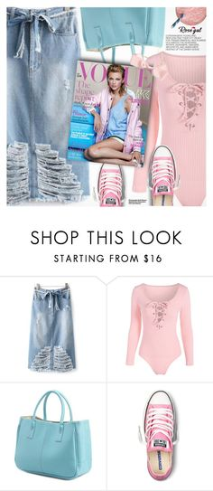 Pink&Blue by pokadoll on Polyvore featuring Converse and Hedi Slimane