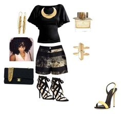 """""""Untitled #115"""" by aylali2483 on Polyvore featuring Ted Baker, Nine West, Stella & Dot, Oblik Atelier, Giuseppe Zanotti, Lanvin, Chanel and Burberry"""