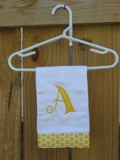 adorable initial burp cloth!