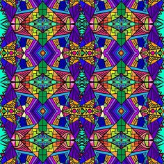 Colorful Psychedelic Pattern - Blue 1