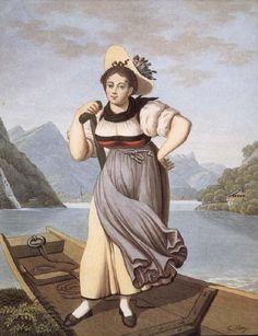 """Elisabetha Grossmann, dite """"La belle batelière de Brienz"""""""