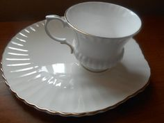 Staffordshire China Snack Set Cup with Saucer by AnnasRetroKitchen